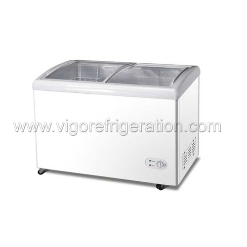 Glass Door DC Freezer for Ice Cream