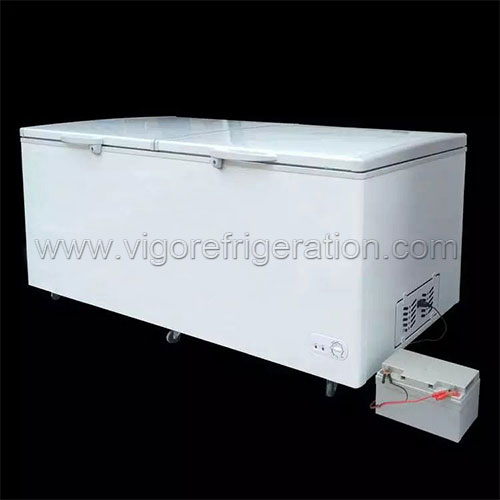 535L big solar freezer for sale
